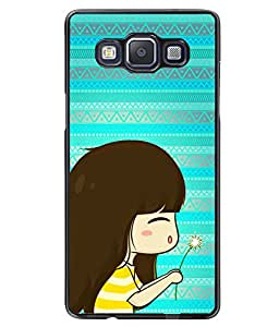 PRINTVISA Baby With Flower Premium Metallic Insert Back Case Cover for Samsung Galaxy A5 - A500F - D5898
