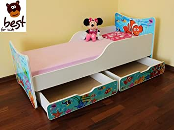 BESTFORKIDS AMAZING CHILDRENS / TODDLER 1st BED VARIATIONS WITH TWO DRAWERS 20 DESIGNS - 90x200 (Ocean)