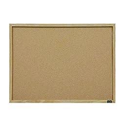 Quartet Cork Bulletin Board, 11-Inch x 17-Inch, Oak Finish Frame (35-380482)