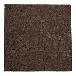 Brown Cork Squares - 12 Inch x 12 Inch x 1 Inch thick - 6 Pack