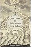 "BOOKS RECEIVED: Gregory Kneidel, ""John Donne and Early Modern Legal Culture: The End of Equity in the Satyres"" (Duquesne UP, 2015)"