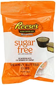 Reese's Peanut Butter Cup Miniatures, Sugar Free, 3-Ounce Bags (Pack of 12)