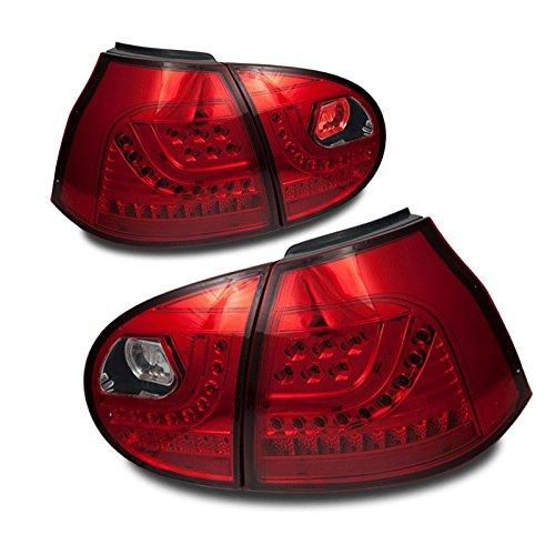 Starr Lite 06-09 Volkswagen Rabbit / Gti Led Tail Lights - Chrome / Red