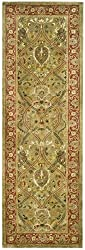 Safavieh Persian Legend New Zealand Wool PL819B Light Green 2' 6 x 8' Handmade Wool Area Rug