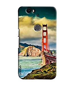 Omnam San Fransico Bridge Printed Designer Back Cover Case For Goolge Nexus 6 P