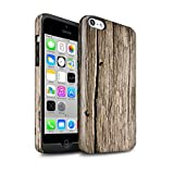 STUFF4 Gloss Tough Shock Proof Phone Case for Apple iPhone 5C / Driftwood Design / Wood Grain Effect/Pattern Collection