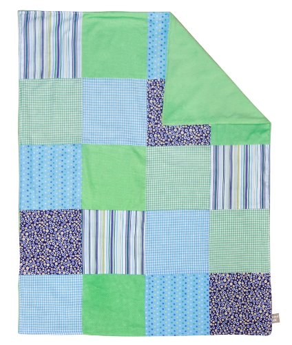 Trend Lab Multi-Patched Receiving Blanket, Apple Berry (Discontinued by Manufacturer)