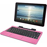 "RCA Viking Pro 10.1"" 2-in-1 Tablet 32GB Quad Core Pink Laptop Computer with Touchscreen and Detachable Keyboard Google Android 5.0 Lollipop"