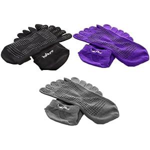 ProSource Yoga Socks Full Toe with Grips S/M