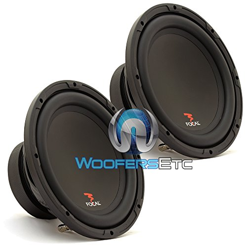 "Pair Sub P25 - Focal 10"" 200W Rms 400W Max Single 4-Ohm Subwoofer"