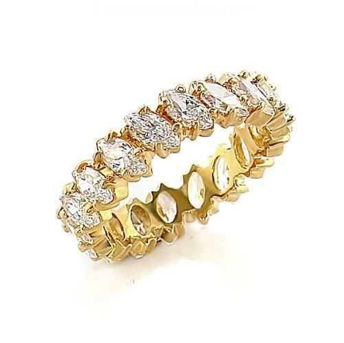 Jewelry - 2 Carat Clear CZ Eternity Ring SZ 10