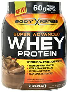 Body Fortress Whey Protein Powder, 31.2 Ounces (Chocolate, 1 Pack)