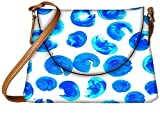 Snoogg Blue Abstract Paint Designer Womens Carry Around Sling Bags