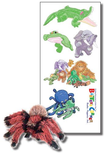 The Gang at Baxter's Corner - Deluxe Gift Set, Includes Folkmanis Puppet, and Five Small Removable Decals