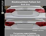 R�ckleuchten Aufkleber Dark Grey Passend f�r Audi A5 B8 Facelift LED Folie S5 S Line