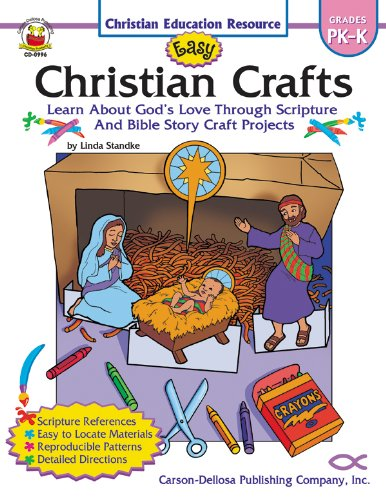 Easy Christian Crafts, Grades PK - K: Learn About God's Love Through Scripture and Bible Story Craft Projects (Christian Education Resource) (Christian Crafts For Kids compare prices)