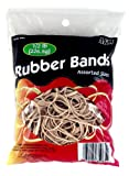 HQ Advance Products Rubber Bands, Assorted Sizes, Natural Color (35065)