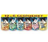Felix Katzensnack Snackbox 12 + 6 gratis, 1 Packung (1 x 990...