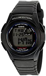 Casio Youth Digital Grey Dial Mens Watch - F-200W-1AUDF (D027)