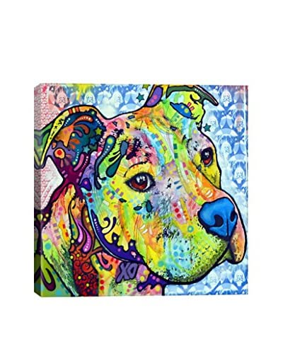 Dean Russo Thoughtful Pit Bull This Years I Gallery Wrapped Canvas Print