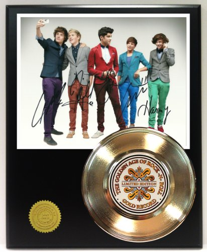 One Direction Gold Record Signature Series Ltd Edition Display