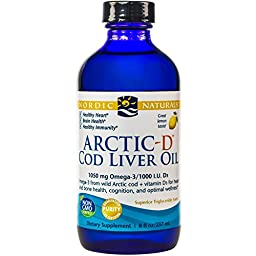 Nordic Naturals - Arctic-D CLO, Heart and Brain Health, and Optimal Wellness, Lemon 8 Ounces (FFP)