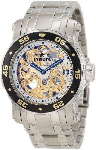 Invicta Men's 10304 Pro Diver Mechanical Gold Tone Skeleton Dial Watch