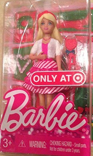Barbie 2014 Target Exclusive Christmas Happy Holiday Mini Doll Candy Cane Dress by Mattel