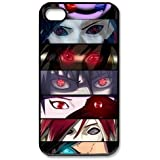 4s Case, iPhone 4 4s Case - Fashion Style New Naruto Painted Pattern TPU Soft Cover Case for iPhone 4/4s(Black/white)