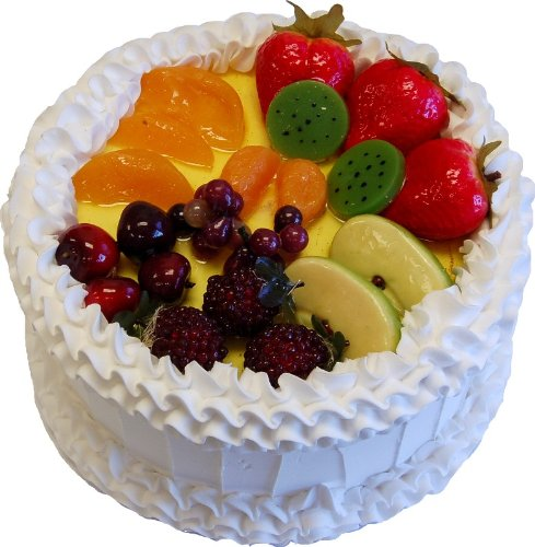 Fruit Cake White Fake Cake 9 Inch