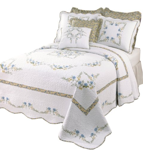 Find Bargain Modern Heirloom Collection Heather Cotton Filled Bedspread, King, 120 by 118-Inch