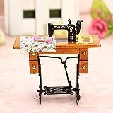 MECO(TM) Children's Toys Dollhouse 1:12 Vintage Miniature Furniture Sewing Machine