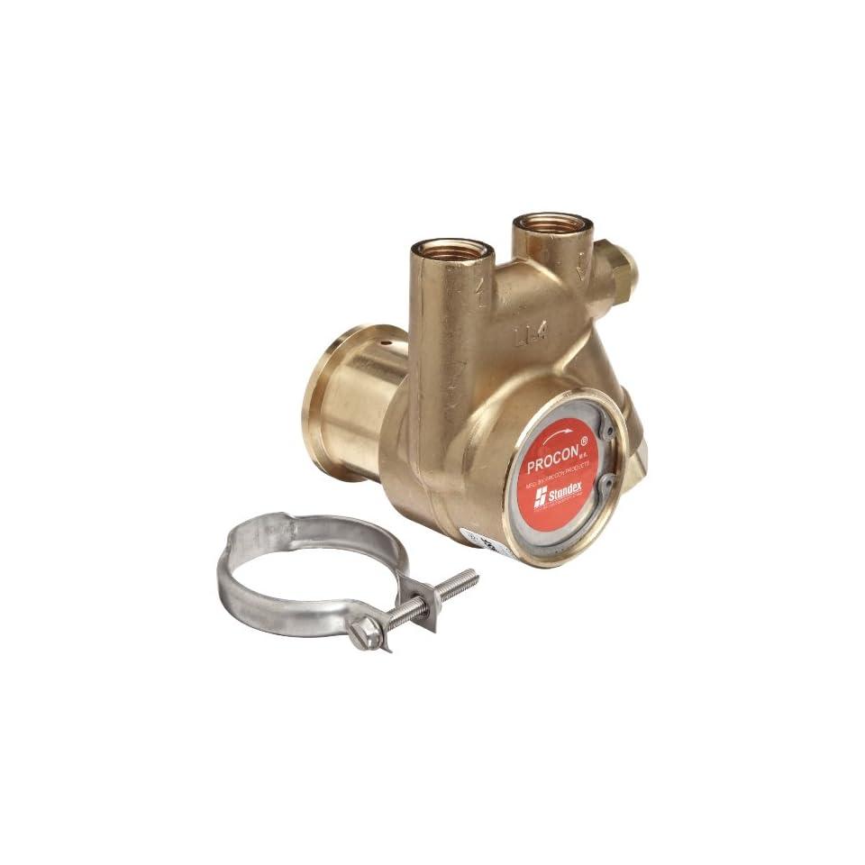 Procon 141A025F11CA Low Lead Brass Rotary Vane Pump, 3/8 NPTF, 35 GPH