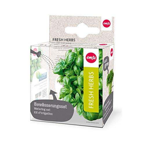emsa-515351-9-teiliges-bewasserungsset-fur-krautertopf-fresh-herbs-6-dochte-3-dochthalter-fresh-herb