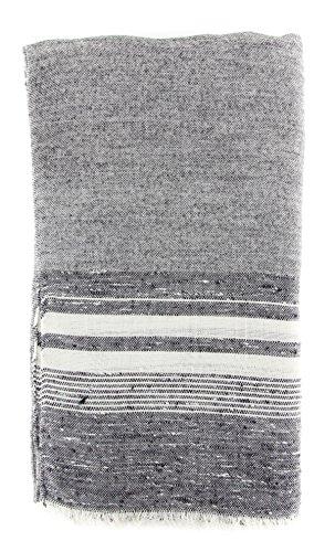 new-cesare-attolini-gray-cotton-blend-scarf