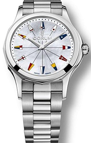 Corum Women's Admiral's Cup Legend 38 38mm Steel Bracelet & Case Quartz Analog Watch 020.201.20/V200 PN22