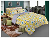 Bellagio Elite Collection Cotton 1 Double Bed Sheet & 2 Pillow Covers (Yellow)