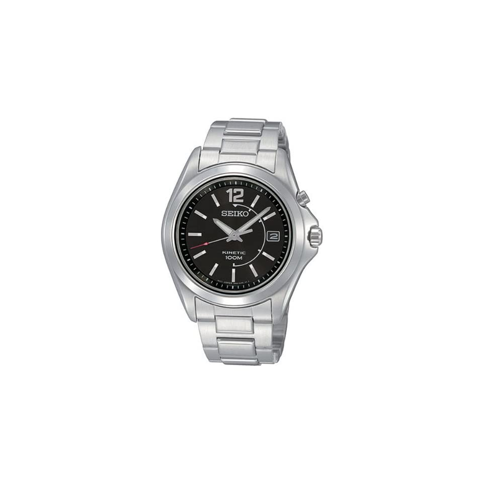 Seiko Mens SKA347 Kinetic Silver Tone Watch Seiko Watches
