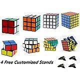 D-FantiX Shengshou Speed Cube 2x2 3x3 4x4 5x5 Bundle Magic Cube Puzzle Set of 4 Black
