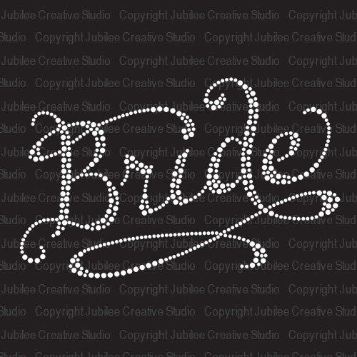 Romantic Bride Iron On Rhinestone T-Shirt Transfer am 0813 t полочка romantic