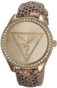 Guess Damen-Armbanduhr Leder Ladies Trend Analog Quarz W70015L2