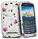 Phonedirectonline- White lilies flower silicone case cover pouch for blackberry curve 9360