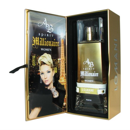 Lomani AB Spirit Millionaire Eau De Parfum Spray for Women, 3.3 Ounce