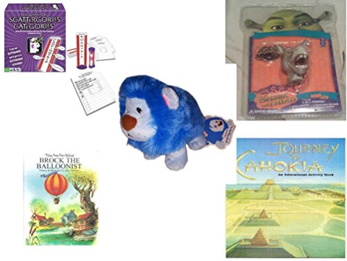 [Children's Gift Bundle - Ages 6-12 [5 Piece] - Scattergories Categories Game: A Fun Twist on the Fast Thinking Original - Shrek Donkey Foamheads 4 In 1 Topper Keychain Toy - Neopets PetPet Blue
