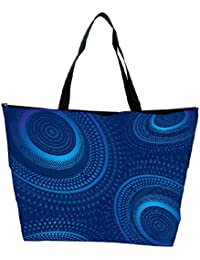 Snoogg Vector Fractal Background Waterproof Bag Made Of High Strength Nylon