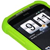 Amzer Silicone Skin Jelly Case for HTC Wildfire - Green