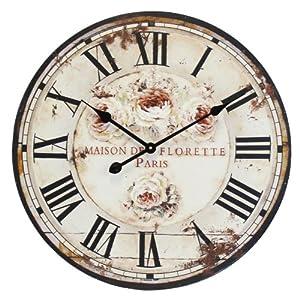 Decorazione shabby chic orologio grande da parete stile for Orologio shabby chic