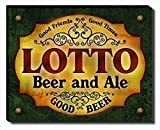 Lotto Beer & Ale Stretched Canvas Print