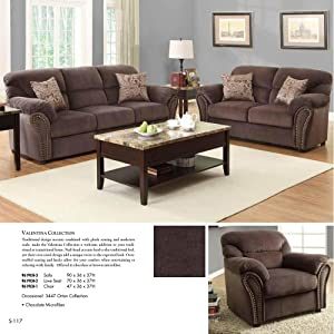 piece living room set in chocolate microfiber living room