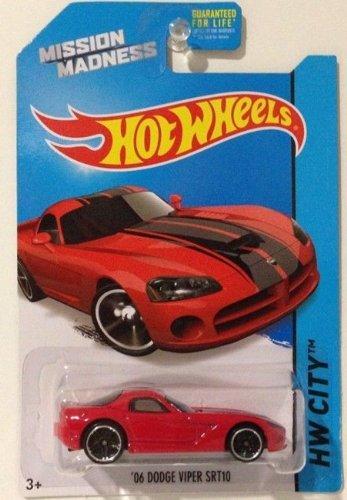 2014 Hot Wheels '06 Dodge Viper SRT10 Red Scavenger Hunt Mission Madness (Dodge Viper Wheels compare prices)